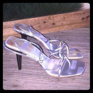 Sergio Rossi silver sandals size 37